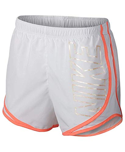 Nike Women's Dry Party Pack Tempo Running Shorts (XL, White)