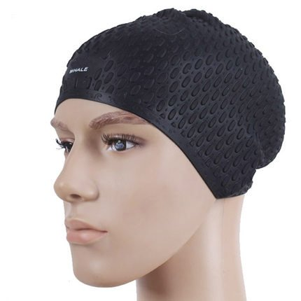 YOOKOON Silicone Swim Cap Swimming Hat with Ear Pouches for Men - Your Cap Customize Swim