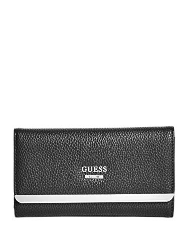 Guess Factory Women's Largo Logo Slim Trifold Snap Button Closure Wallet
