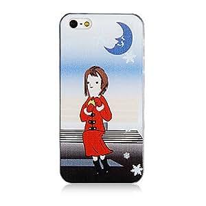 Chica Patrón de Navidad de plástico de nuevo caso de iPhone 5/5S