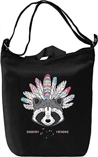 Indian racoon Borsa Giornaliera Canvas Canvas Day Bag| 100% Premium Cotton Canvas| DTG Printing|