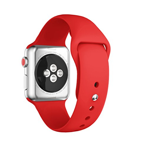 Silicone Watchband Replacement for Apple Watch 42mm (Red) - 6