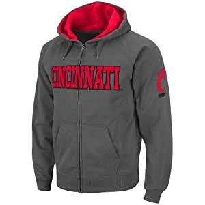 NCAA Cincinnati Bearcats Full-zip Hoodie (Charcoal) - S