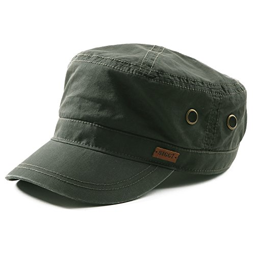 - Fancet Mens Cotton Army Military Sun Radar Hat for Women Large Head Baseball Cadet Cap Green