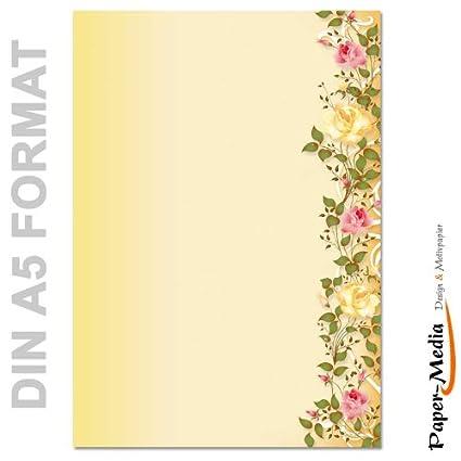 DIN A5 Format 50 Blatt Motiv-Briefpapier BLUMENBUKETT