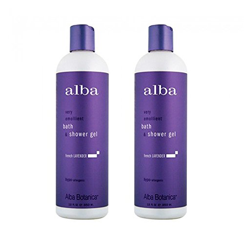 Alba Botanica Very Emollient Bath & Shower Gel 12oz 2pack French Lavender (Alba Sunblock Spray)