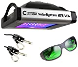 California Light Works SolarSystem 275 Veg LED Grow Light Bundle with Method 7 Operator Glasses and Grow Crew Ratchet Hangers. Easy to Install and Operate