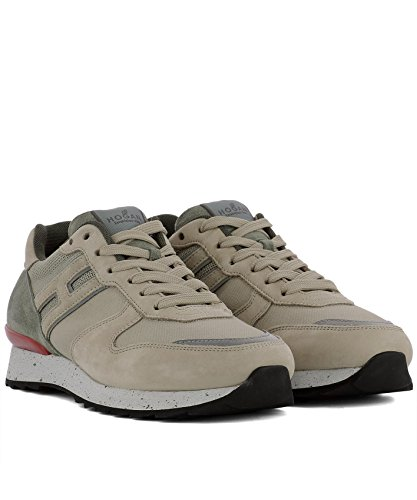 Hogan Herren Hxm2610r676ihy0pd5 Beige Stoff Sneakers
