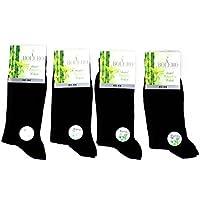 4 pairs Antibacterial 80% Organic Bamboo Socks Breathable, Cycling, Design Socks Mens