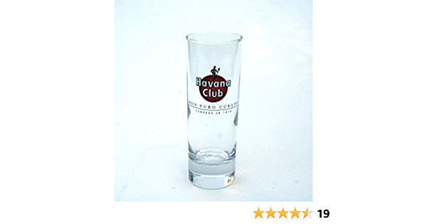 6 vasos de tubo Havana Rhum