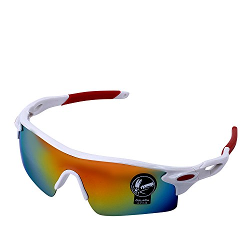 084104cb83b Polarized Sports Sunglasses 100% UV Protection Outdoor Cycling Sunglasses  for Driving