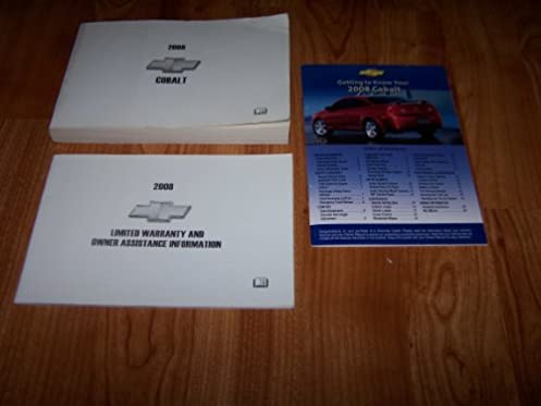 2008 chevrolet cobalt owners manual chevrolet amazon com books rh amazon com 2008 Chevrolet Impala Manual 2008 Chevy Cobalt