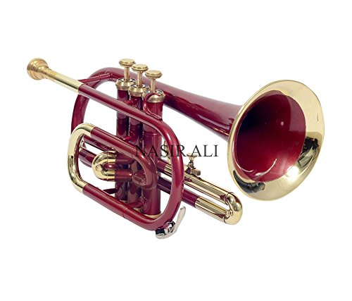 CORNET Bb PITCH RED COLOR WITH FREE HARD CASE AND MOUTHPIECE FRIENDLY TUNED by SAI MUSICAL