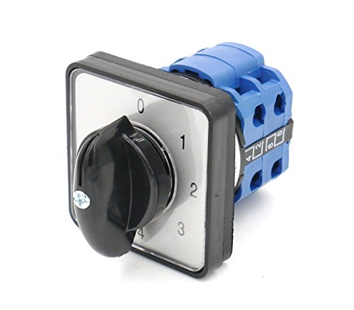 Switch 20a (Baomain Cam Changeover Switch AC 660V 20A 8 Terminals 5 Position Mounting Rotary Select Switch)