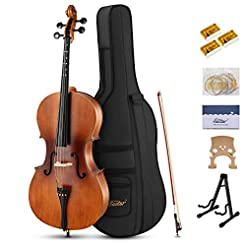 Eastar EVC-1 4/4 Acoustic Cello Matt Nat...