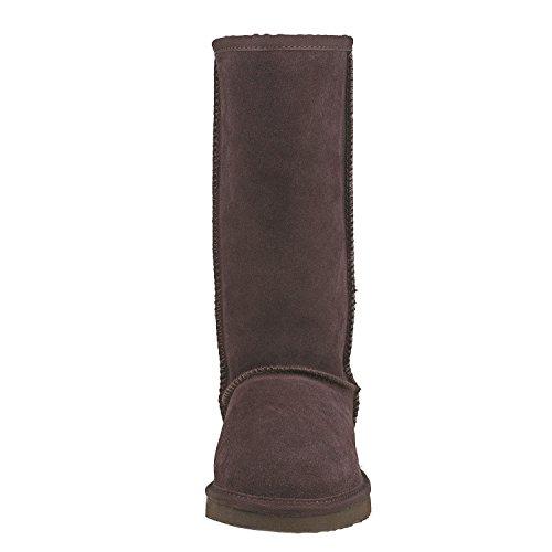 Alta a Shenduo Forradas cl Piel de Botas Invierno Zapatos Planas Mujer para de ca qqHUZ