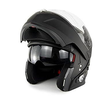 Cascos Moto Integrales Bluetooth Inalámbricos Auriculares Bluetooth 500M De Largo Alcance Interfono Motocicleta Recargable 500 Mah