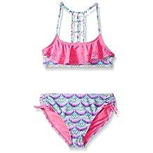 YMI girls Big Girls Show Gals Two Piece Lazer Cut Flounce Swimsuit