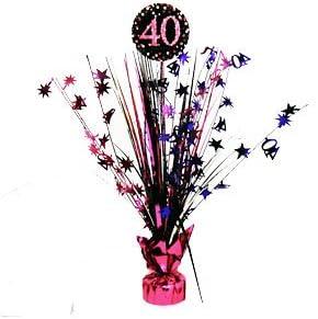 Celebración 40 años centro de mesa - decoración de la mesa de ...