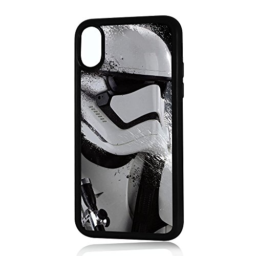 (For iPhone X) Durable Protective Soft Back Case Phone Cover - A11055 Starwars Storm Trooper