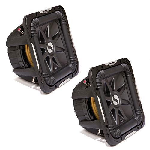 Kicker 11S12L72 x 2 Solobaric L7 Subwoofer Dual 2 Ohm 12