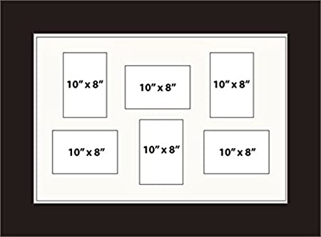 Kwik Picture Framing | MULTI APERTURE PHOTO FRAME FITS 6 10x8 PHOTOS ...