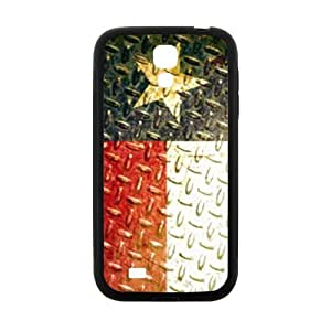 Best Slim Texas State Flag - Vintage Metal Design Case Cover for SamSung Galaxy S4 I9500 For Impact Protection Super Fit SamSung Galaxy S4 I9500 TPU(Laser Technology) -