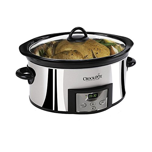 Crock-Pot 6-Quart Programmable Slow Cooker, Stainless Steel