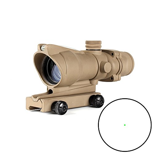 ohhunt 1x32 Hunting RifleScopes Red or Green Dot Sights Real Fiber Optics Tactical Optical Scope (click to select Green Dot Dark Earth) by ohhunt
