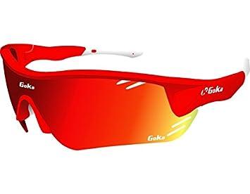 GOKA Gafas De Ciclismo Unisex R8 Polarizadas Color Rojo: Amazon.es: Deportes y aire libre