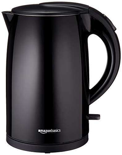 (AmazonBasics Double-Walled Stainless Steel Kettle - 1.7 Liter)
