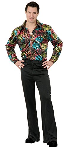 [Black Disco Pants Adult - 36] (Mens Disco Pants Costume)