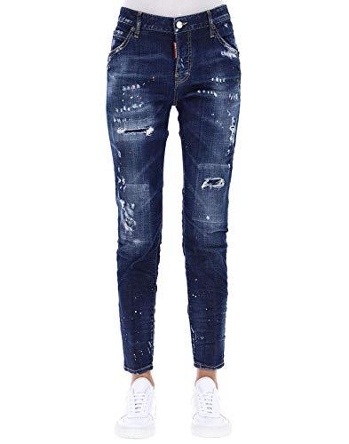 Dsquared2 Cotone S72lb0121s30342470 Donna Jeans Blu wwxrBqa