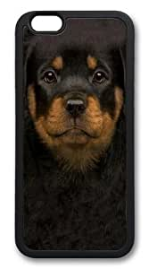 For SamSung Galaxy S6 Case Cover For SamSung Galaxy S6 Case Cover -Kids Rottweiler Puppy Hard shell pc Soft Case Back For SamSung Galaxy S6 Case Cover Black