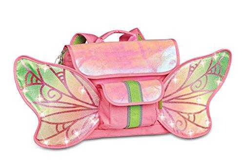 Bixbee Kids Backpack School Bag Light Up Fair Flyer, Pink, Small