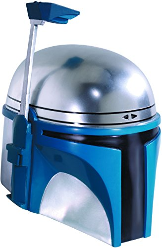 Supreme Edition One-Piece Jango Fett Helmet Costume Accessory (Fett Helmet)