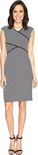 OTTO Calvin Klein Women's Striped Panel Dress, Black/Whit...
