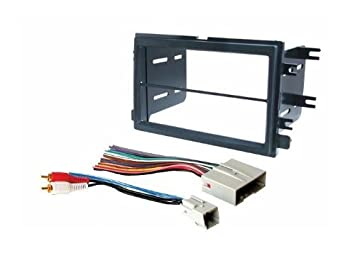 amazon com select ford models aftermarket double din radio dash kit ford bronco wiring harness select ford models aftermarket double din radio dash kit stereo installation wire harness 2004