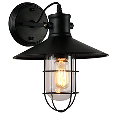 Amazon.com: Avanthika E27 - Lámpara de pared empotrada con ...