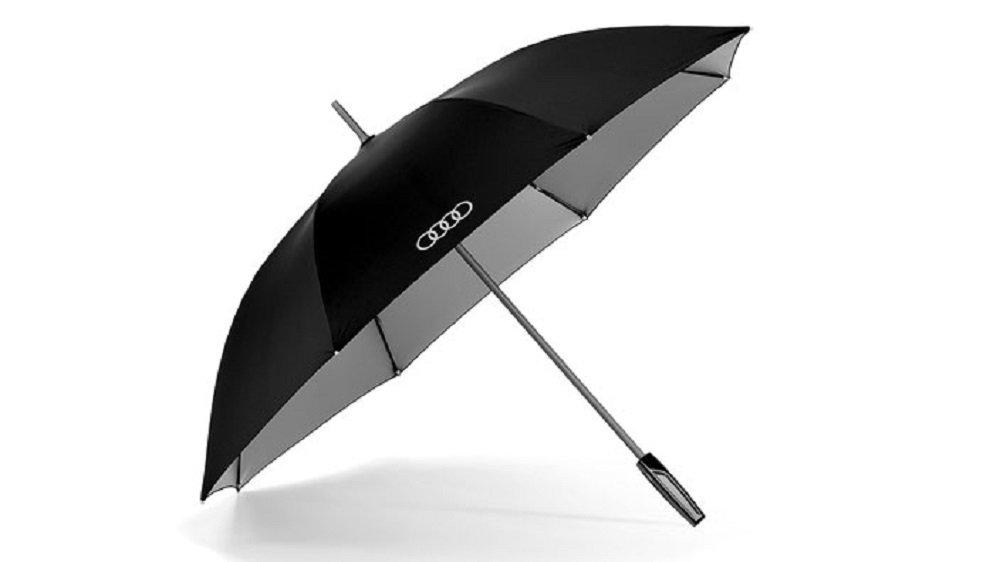 quattro GmbH Ombrello Audi Originale, Grande, Colore Nero/Titanio (cod. 3121500100) Audi AG