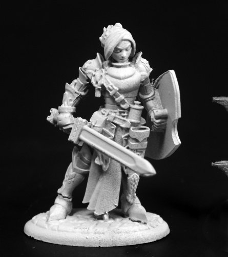 Reaper Merrowyn Lightstar, Female Elf Paladin #03764 Dark Heaven Unpainted Mini (Dark Paladin Miniatures)