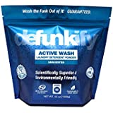Defunkify Active WASH Laundry Detergent - Soap for Activewear, High Tech, Synthetic Clothing, and All Your Other Laundry. Removes Odors and Stains from Sportswear. 55 oz. (92 Loads), 0.24 per Load
