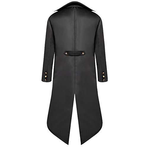 H&ZY Men's Steampunk Vintage Tailcoat Jacket Gothic Victorian Frock Coat Uniform Halloween Costume by H&ZY (Image #1)