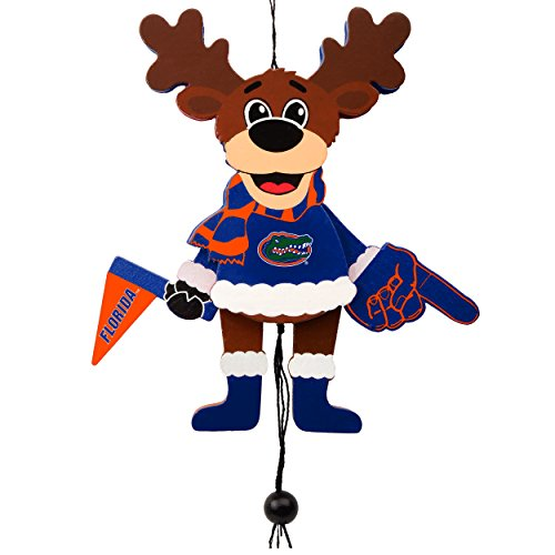 Forever Collectibles Florida Gators Official NCAA Holiday Christmas Ornament Cheering Reindeer by 498414 - Florida Gators Christmas Ornaments
