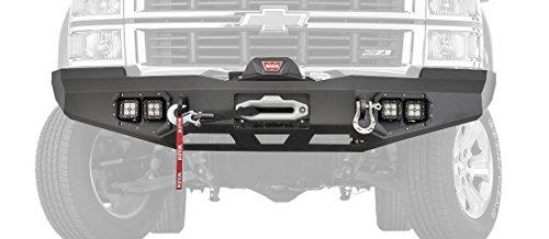 Warn 95800 Ascent Front Bumper for Chevrolet Silverado 1500 (2014 Silverado Winch Bumper)