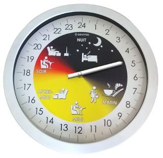 Horloge Mémo Alzheimer 24h