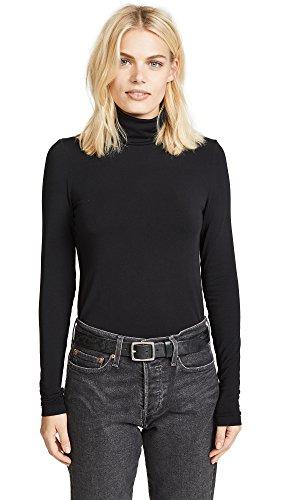 Wolford Women's Viscose Turtleneck Pullover, Black, Large