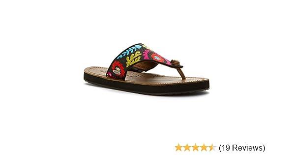 c7aef8373 Amazon.com | Acorn Women's ArtWalk Leather Flip Multi Suzani Sandal 6 M |  Flip-Flops