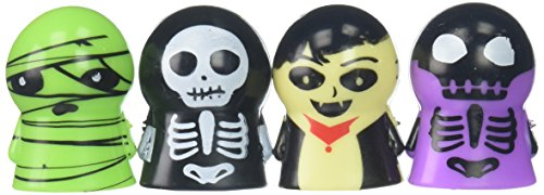 Family Friendly Halloween Trick or Treat Creepy Creatures Finger Puppets Party Favour, Plastic, 1