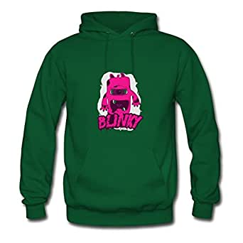 Style Personality X-large Hoodies Green Monster Designed Women Cotton S